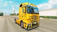 La piel Trans Europa en camión Mercedes-Benz