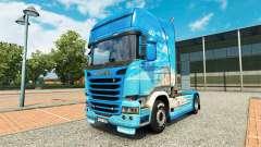 La piel Klanatranas en el tractor Scania