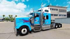 La piel del Capitán América en el camión Kenwort