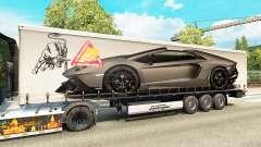 La piel Lamborghini Aventador en el trailer
