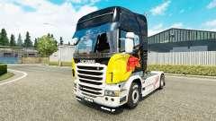 Rojo de la piel de Toro para Scania camión
