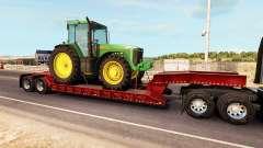 Baja de barrido con una carga de tractor John De