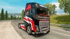 Rojo de la piel de Toro para camiones Volvo