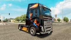 Fuego en la piel para camiones Volvo