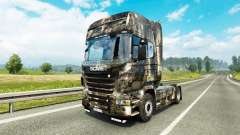 La piel de la Ciudad en el tractor Scania