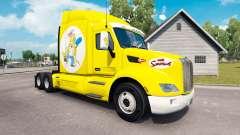 Los Simpsons de la piel para el camión Peterbilt