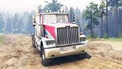 Western Star 4900 [red] para Spin Tires