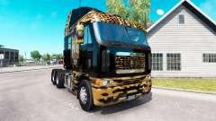 Piel de Jaguar en el camión Freightliner Argosy