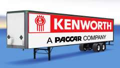 De metal semi tráiler Kenworth