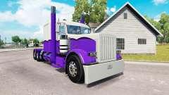 La piel de color Morado y Blanco para el camión