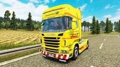 La piel de DHL para Scania camión
