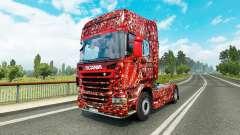 La piel de Coca-Cola Burbujas en el tractor Scan
