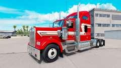 La piel de color Rojo y Crema en el camión Kenwo