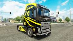 Pieles de Negro Y Amarillo en Volvo trucks