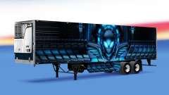 La piel de Alienware refrigerados semi-remolque