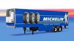 Michelin de la piel en el remolque refrigerado