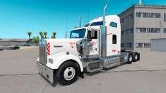 La piel Heartland Express, [blanco] camión Kenwo