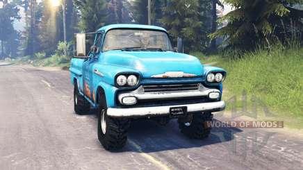 Chevrolet Apache 1959 v5.0 para Spin Tires