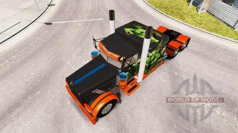 De piel de serpiente v2.0 tractor Peterbilt 389 para American Truck Simulator