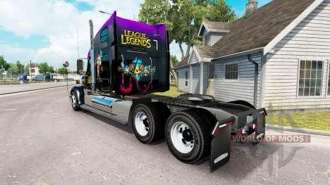 Скин de la Liga de Leyendas на Freightliner Coro para American Truck Simulator