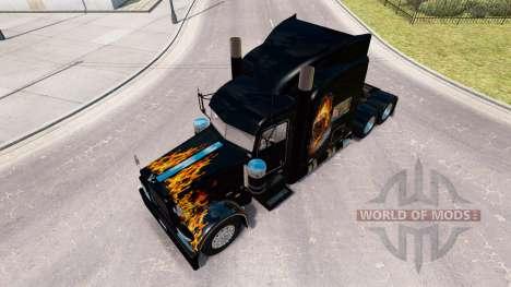 Ghost Rider de la piel para el camión Peterbilt  para American Truck Simulator