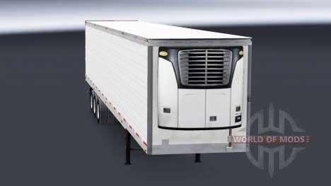 Tres ejes reefer semi-remolque para American Truck Simulator