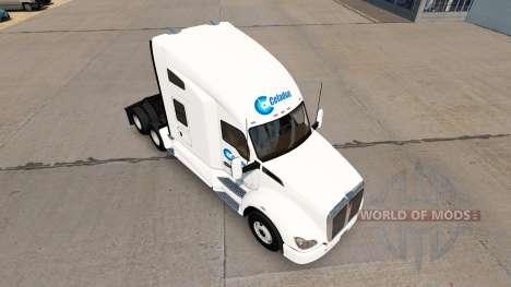 Celadon de Camiones de la piel para Kenworth tra para American Truck Simulator