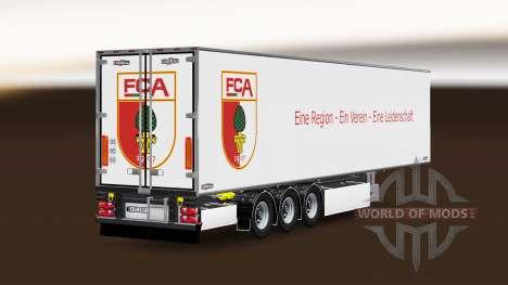 Semi-remolque Chereau, FC Augsburg para Euro Truck Simulator 2