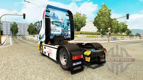 La piel Mitsubishi A6M2 Zero en el tractor Iveco para Euro Truck Simulator 2