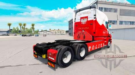 La piel Airbrash Polska para camión Scania T para American Truck Simulator