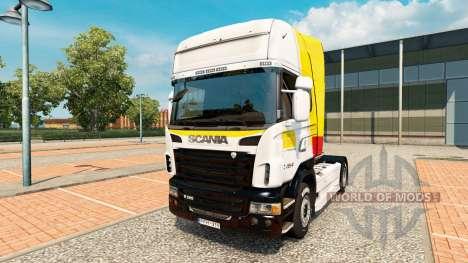 La piel de Itapemirim en el tractor Scania para Euro Truck Simulator 2