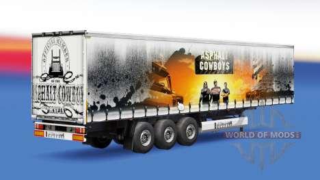 El asfalto de los Vaqueros de la piel en el remo para Euro Truck Simulator 2