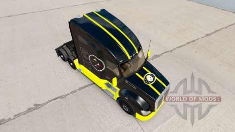 Pittsburgh Steelers de la piel para el Kenworth  para American Truck Simulator