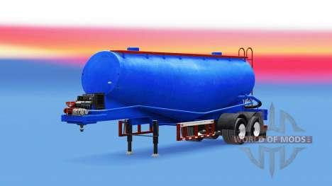 Color azul para el cemento semi-remolque para American Truck Simulator