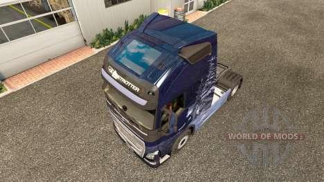 En invierno los Lobos de la piel para camiones V para Euro Truck Simulator 2