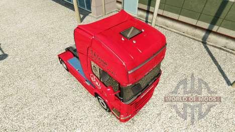 La piel de 1. FC Nurnberg en el Scania truck para Euro Truck Simulator 2