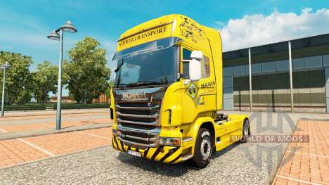 Schwertransport Hanys de la piel para Scania cam para Euro Truck Simulator 2
