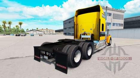 Piel de Oro Negro en el camión Kenworth W900 para American Truck Simulator