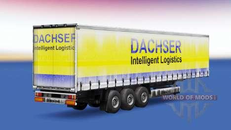 Dachser piel v1.1 en el remolque para Euro Truck Simulator 2