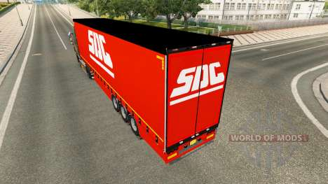 Cortina semi-remolque de la COSUDE v2.0 para Euro Truck Simulator 2