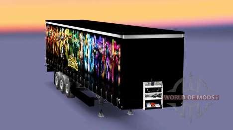 La piel de la Liga de Leyendas remolque para Euro Truck Simulator 2