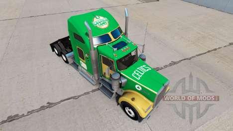 Boston Celtics de la piel para el Kenworth W900  para American Truck Simulator