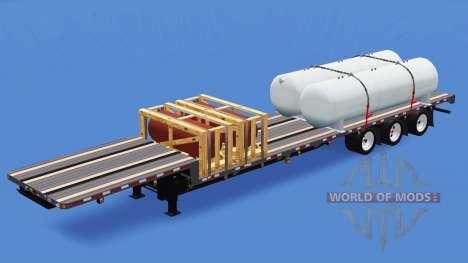Bajo el barrido con la mercancía para American Truck Simulator