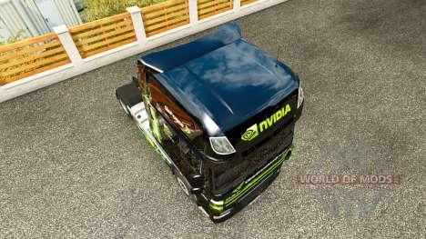 La piel de Nvidia para tractora DAF XF 105.510 para Euro Truck Simulator 2