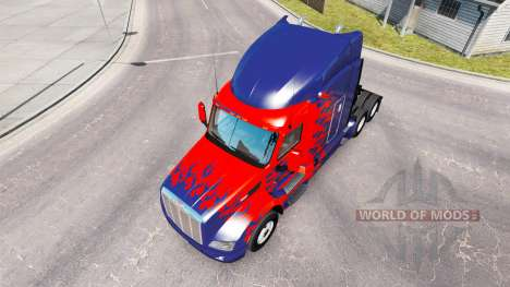 Optimus Prime de la piel para el camión Peterbilt para American Truck Simulator