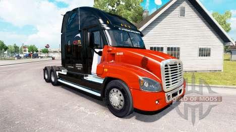 La piel CNTL en el tractor Freightliner Cascadia para American Truck Simulator