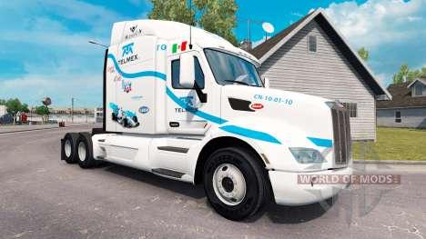 Telmex piel para el camión Peterbilt para American Truck Simulator