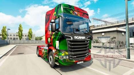 Скин Copa de Portugal 2014 на Scania Streamline para Euro Truck Simulator 2