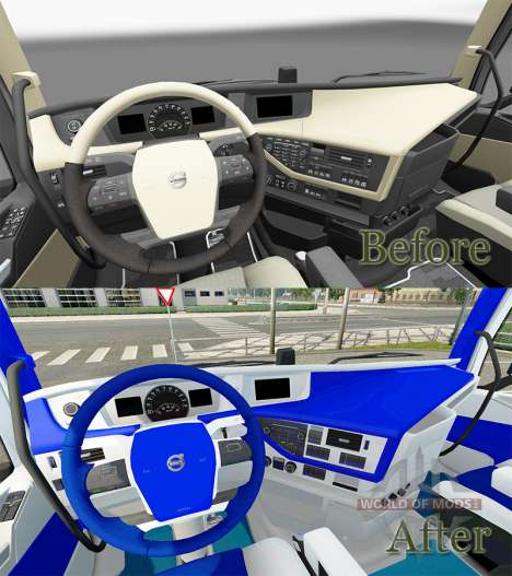 HSV interior para Volvo para Euro Truck Simulator 2
