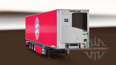 Semirremolque Chereau FC Bayern Munchen para Euro Truck Simulator 2